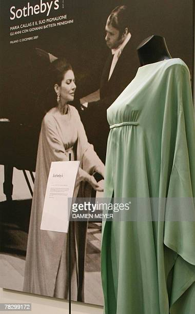 An evening dresse of GreekAmerican opera diva Maria Callas is exhibited 07 December 2007 in Milan before being put up for sale 12 December 2007 There...