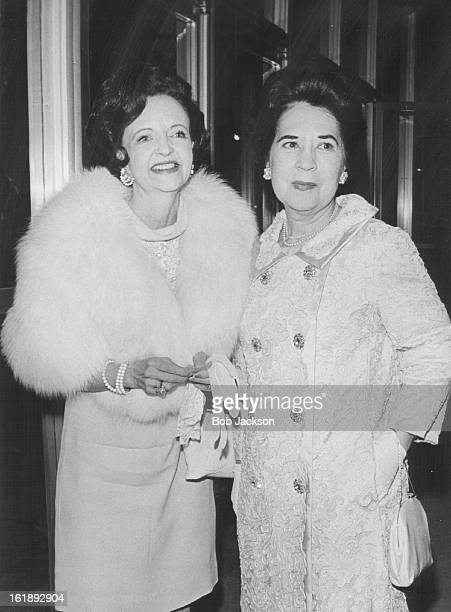 APR 10 1969 APR 11 1969 An Evening For Theatre Mrs Florence Axton left chats with Mrs Harry Whitaker in foyer at Bonfils Theatre as they await...