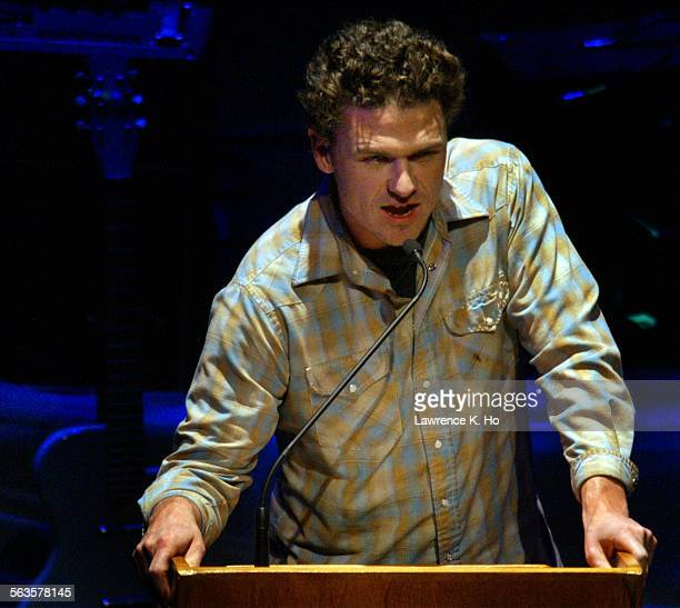 An evening of letters and music with Dave Eggers and the band They Might Be Giants and writers Sarah Vowell and Zadie Smith Pic shows Dave Eggers on...