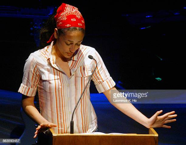 An evening of letters and music with Dave Eggers and the band They Might Be Giants and writers Sarah Vowell and Zadie Smith Pic shows Zadie Smith on...