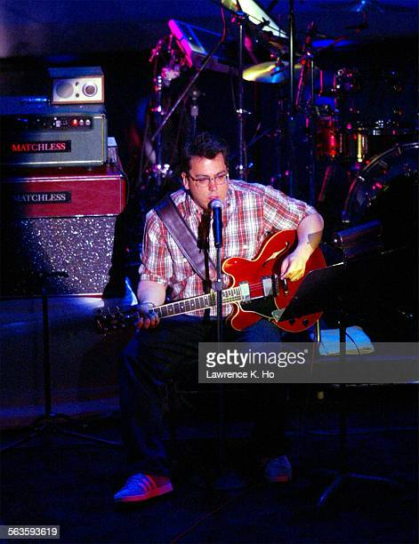 An evening of letters and music with Dave Eggers and the band They Might Be Giants and writers Sarah Vowell and Zadie Smith Pic shows John Flansburgh...