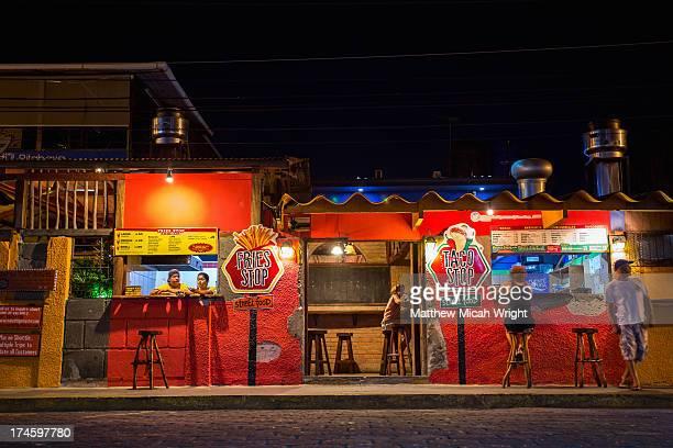 An evening on the streets of San Juan