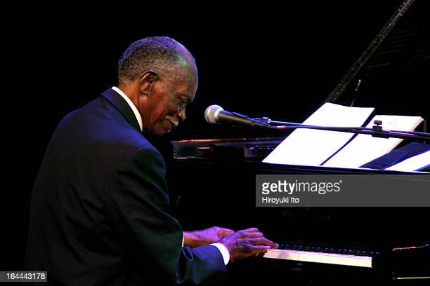 """""""An Evening with Hank Jones and Friends"""" at the Kaye Playhouse on the opening night of JVC Jazz Festival on Tuesday, June 13, 2006.This image;Hank..."""