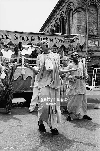 An event organised by the International Society for Krishna Consciousness in Washington Square Greenwich Village New York City 1976