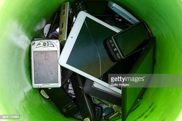 An Ewaste bucket during the Warsaw Recycling Days on September 18 2016 in Warsaw Poland During this social initiative citys residents give away...