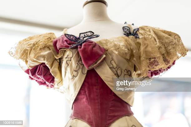 An exact replica of dresses worn by former First Lady Frances Folsom Cleveland on display at Why They Wore It The Politics Pop Culture Of First...