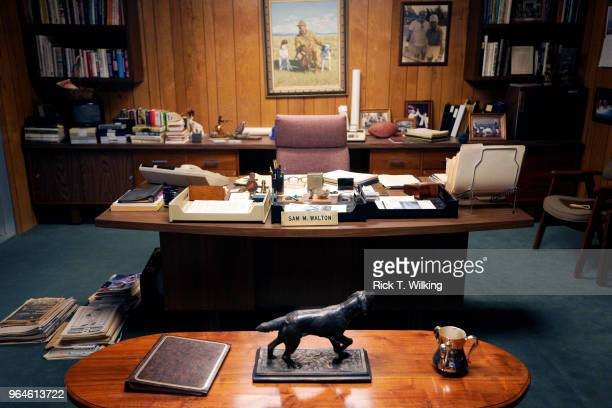 An exact replica of Sam Walton's office as it looked when he died in 1962 is seen at the location of his original 5 and 10 store now a museum during...
