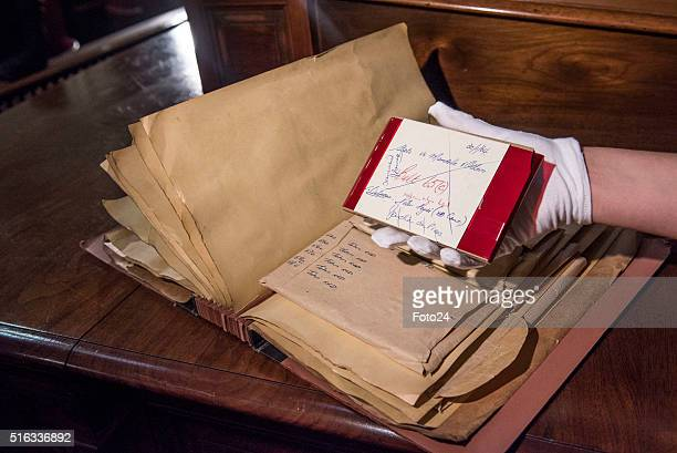 An example of how the dictabelt was packaged and stored during the handing over of the digital audio recordings from the Rivonia Trial on March 17...