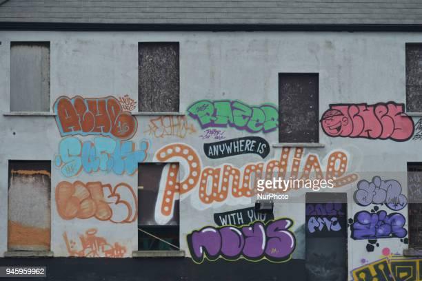 An example of the street art at the Tivoli Carpark in Dublin On Friday April 13 in Dublin Ireland