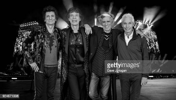 An exclusive image of The Rolling Stones taken on October 25th 2017 in Paris In conjunction with the announcement of part two of the 'STONES NO...