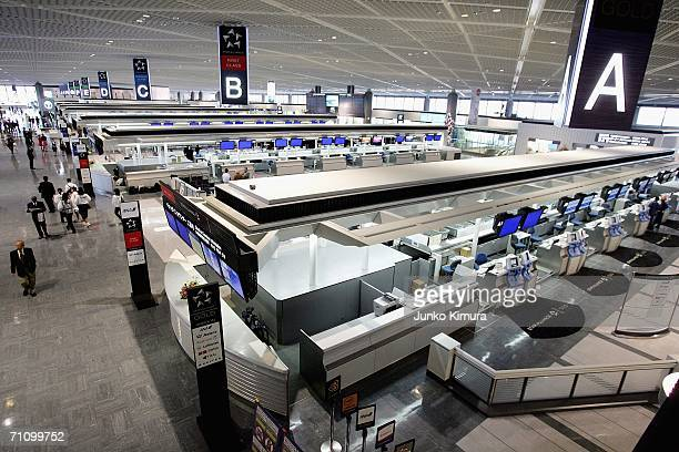 An exclusive terminal dedicated for the Star Alliance Carriers is seen at New Tokyo International Airport on June 1 2006 in Narita Japan The Star...