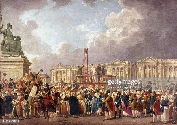 An Execution by Guillotine in Paris during the French Revolution Pierre Antoine De Machy French painter Carnavalet Paris
