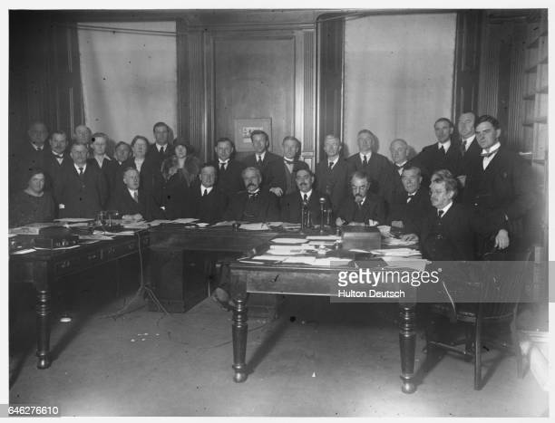 An executive council meeting of the Labour party at their London headquarters in Eccleston Square