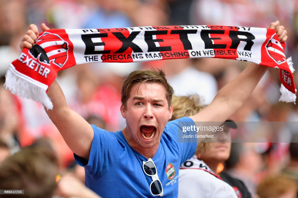 Blackpool v Exeter City - Sky Bet League Two Playoff Final : News Photo