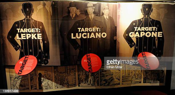An exhibit about capturing mobsters including Louis Lepke Buchalter Charlie Lucky Luciano and Al Capone is displayed at The Mob Museum February 13...