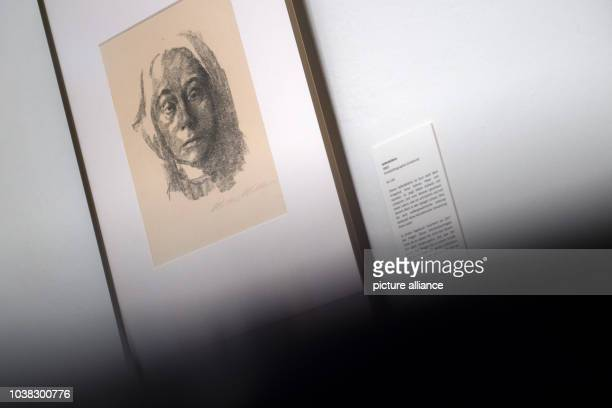 An exhibit belonging to the permanent collection of the Kaethe Kollwitz House in Moritzburg Germany 3 May 2017 The museum is hosting an exhibition...