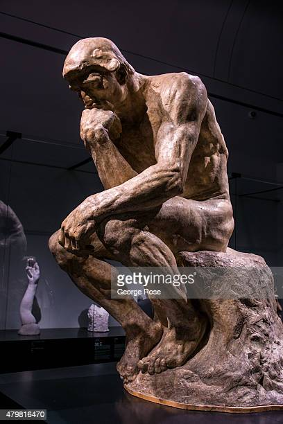 An exhibit by French sculptor Auguste Rodin is on diplay at the Montreal Museum of Fine Arts as viewed on June 28 2015 in Montreal Quebec Canada...