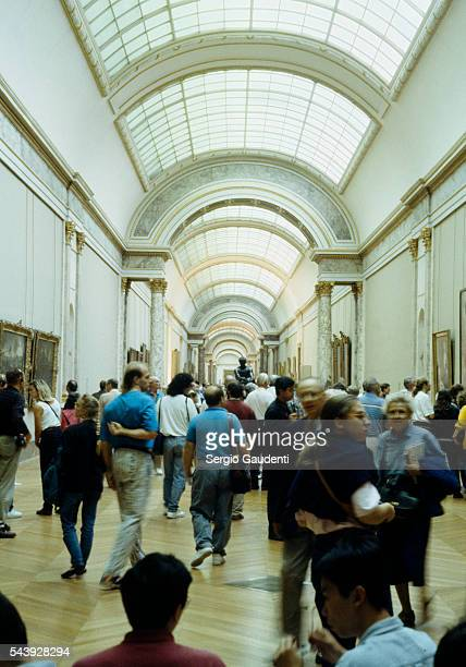 An exhibition hall in the Musee du Louvre