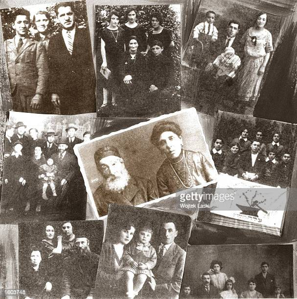 An exhibition of photos of the Jewish residents who victims of the Jedwabne massacre are on display July 20 2001 in Lomza near Jedwabne Poland New...