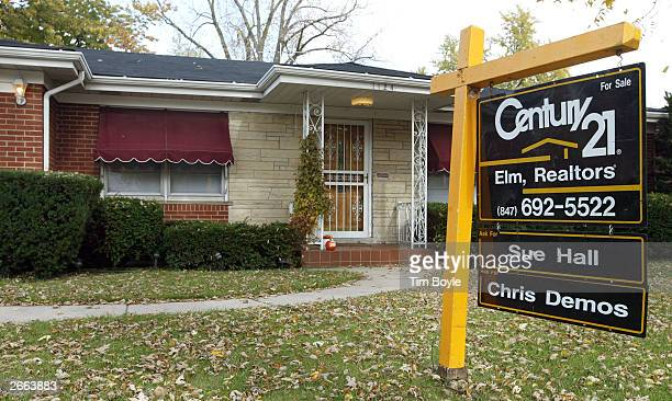 An existing home for sale is seen October 27, 2003 in Park Ridge, Illinois. In a report released today, the National Association of Realtors said...