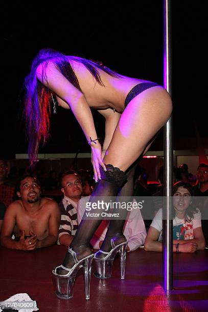 IMAGE CONTAINS NUDITY An exotic dancer performs during day 1 of Sex Entertainment 2011 at Palacio de Los Deportes on March 2 2011 in Mexico City...