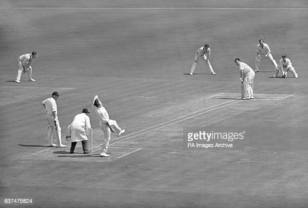 An experiment was tried at Lord's Cricket Ground today which included widening the wicket so as to include four wickets and marking white lines...
