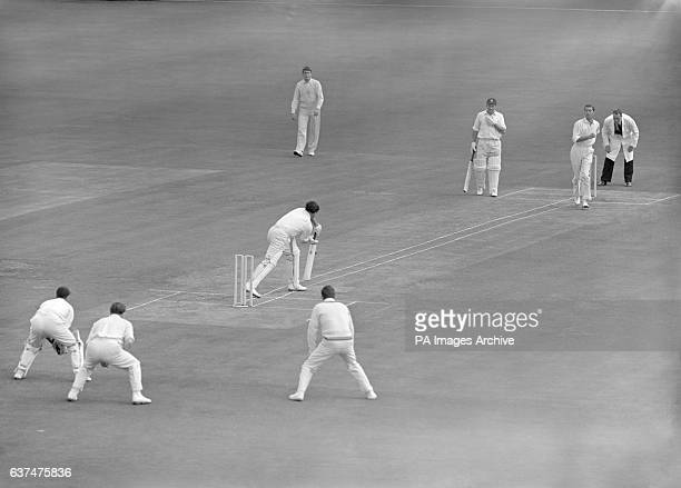 An experiment was tried at Lord's Cricket Ground today, which included widening the wicket so as to include four wickets, and marking white lines...