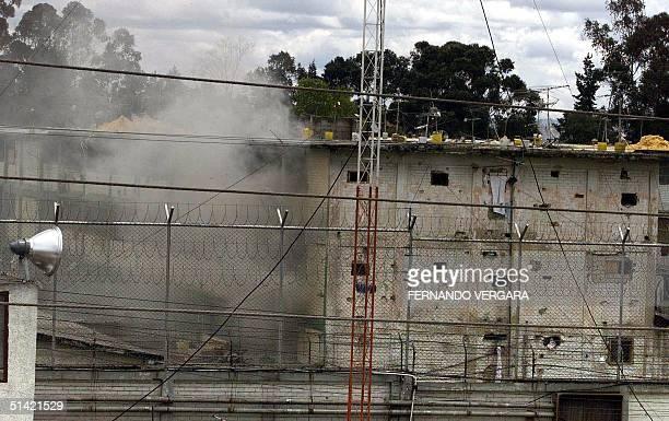 An explosion in the Modelo Prison in Bogota Colombia 3 July 2001 Una explosion se produce en la carcel modelo de Bogota el 03 de julio de 2001 Los...