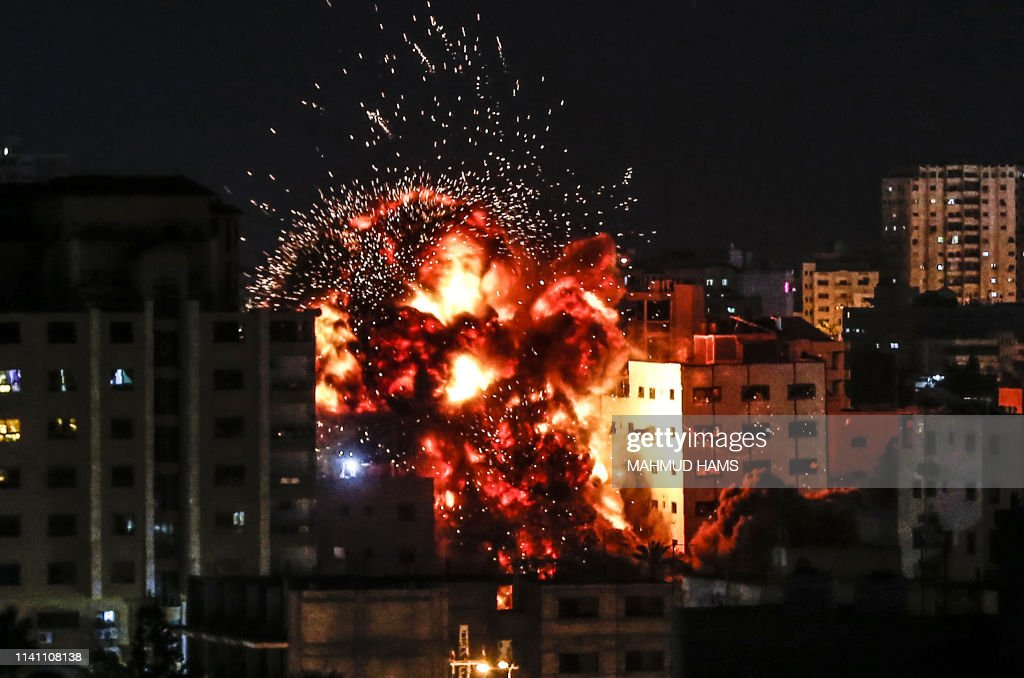 TOPSHOT-PALESTINIAN-ISRAEL-UNREST : News Photo