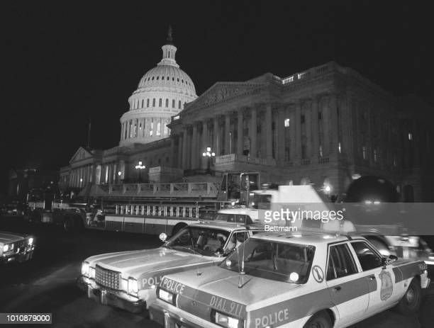 An explosion rocked the Senate side of the Capitol about the same time a caller to the Washington Post warned of bomb in the building would explode...