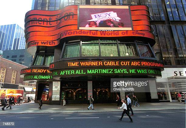 An exterior facade of the studio of Good Morning America owned by America Broadcasting Company May 2, 2000 in New York City. Time Warner Cable cut...