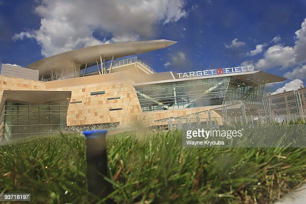 An exterior general view of Target Field's Metropolitan Club and Pro Shop on August 27 2009 at Target Field in Minneapolis Minnesota The opening day...