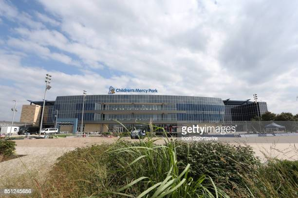 An exterior image of the stadium before the gameas Sporting Kansas City hosted the New York Red Bulls on September 20 at Children's Mercy Park in...