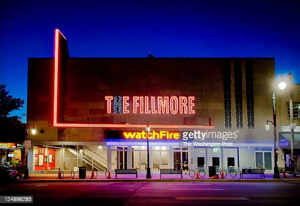 An exterior night view of the long awaited Fillmore nightclub almost finished and set to open next month on August 2011 in Silver Spring MD