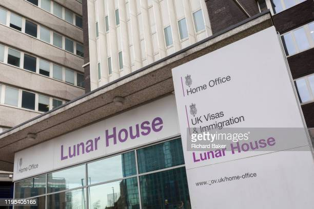 An exterior of Lunar House, the headquarters of 'UK Visas and Immigration', a division of the Home Office on Wellesley Road, Croydon, on 20th January...
