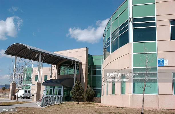 An exterior of the Columbine High School entrance is shown March 22 2005 in Littleton Colorado Jeff Weise a Red Lake High School student in Red Lake...