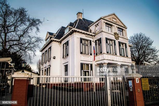 An exterior of the Russian Embassy in the Hague, the Netherlands, pictured on March 26, 2018. The United States and its European allies on March 26...
