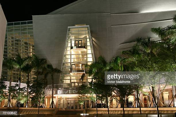 An exterior shot at the Grand Opening of the Carnival Center For The Perfomring Arts on October 5 2006 in Miami Beach Florida