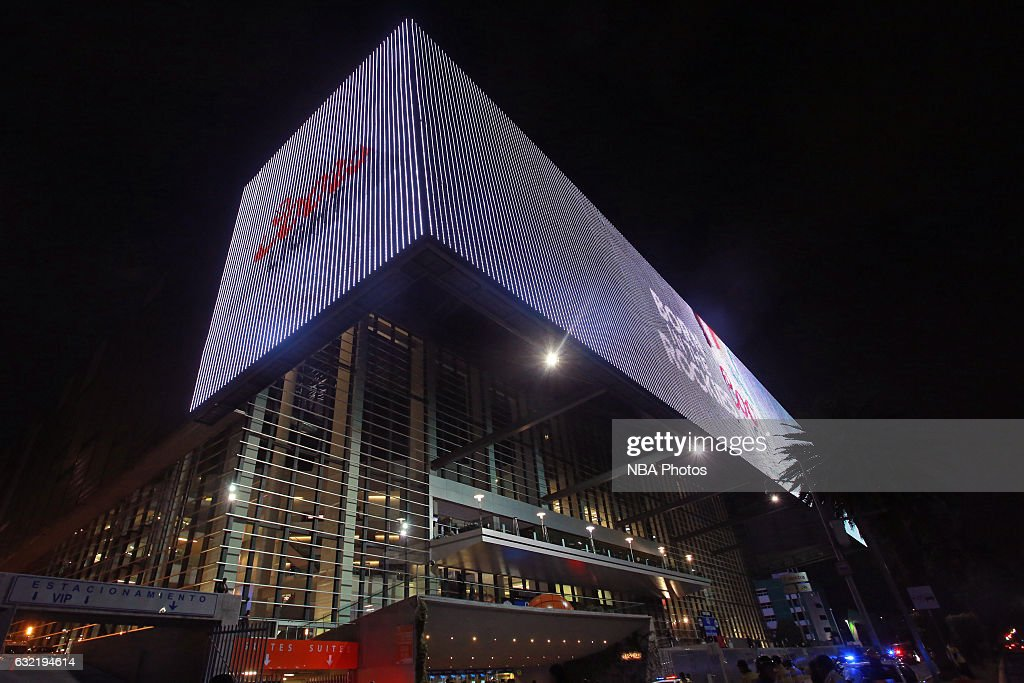 An exterior shot of Arena Ciudad de Mexico as part of NBA Global Games on January 14, 2017 in Mexico City, Mexico.