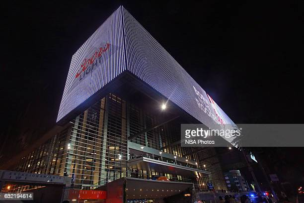 An exterior shot of Arena Ciudad de Mexico as part of NBA Global Games on January 14 2017 in Mexico City Mexico NOTE TO USER User expressly...