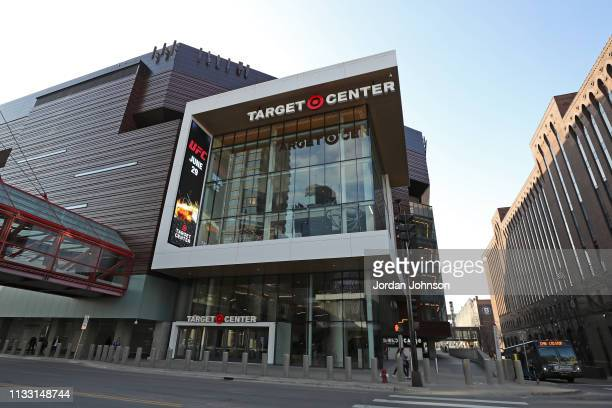 An exterior shot of Target Center before the LA Clippers game against the Minnesota Timberwolves on March 26, 2019 at Target Center in Minneapolis,...