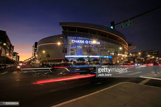 An exterior shot of the Chase Center before LA Clippers game against the Golden State Warriors on October 24, 2019 in San Francisco, California. NOTE...