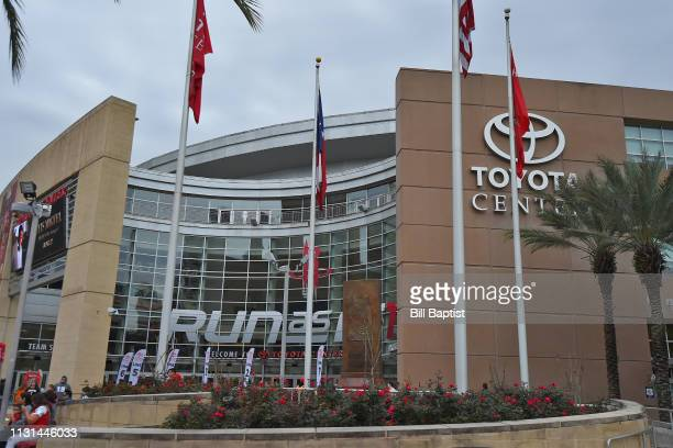 An exterior shot of Toyota Center before the Phoenix Suns game against the Houston Rockets on March 15, 2019 in Houston, Texas. NOTE TO USER: User...