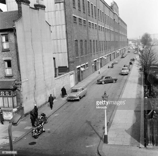 An exterior shot of White Hart Lane, Tottenham Hotspur Football Club stadium, London, 25th March 1962.