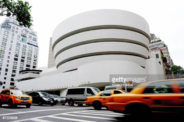 An exterior view along Fifth Avenue May 14 2009 of the Guggenheim Museum in New York as the museum marks its 50th anniversary with an exhibition...