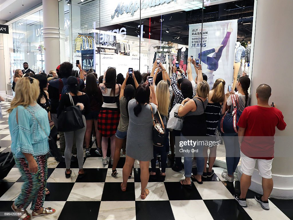 Aly raisman for aeropostale photos and images getty images an exterior view as olympic medalist aly raisman takes part in a fan meet and greet m4hsunfo