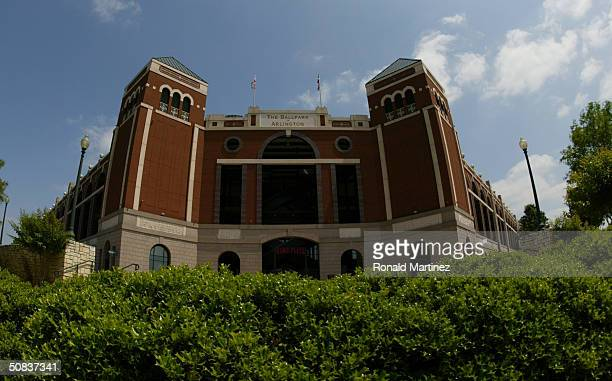 An exterior view at Ameriquest Field in Arlington on May 9 2004 in Arlington Texas On May 7 the Rangers and Ameriquest Mortgage Company announced a...
