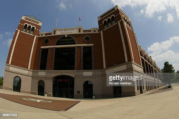 An exterior view at Ameriquest Field in Arlington on May 9, 2004 in Arlington, Texas. On May 7 the Rangers and Ameriquest Mortgage Company announced...