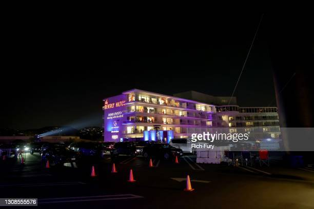 """An exterior view at the OBB Premiere Event for YouTube Originals Docuseries """"Demi Lovato: Dancing With The Devil"""" at The Beverly Hilton on March 22,..."""