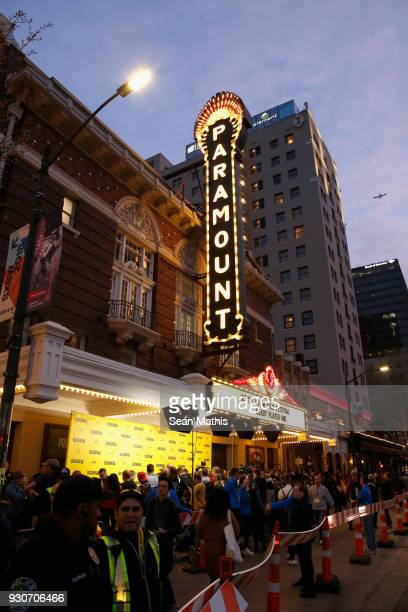 An exterior view at the premiere of Ready Player One during SXSW at Paramount Theatre on March 11 2018 in Austin Texas
